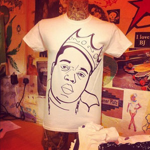 Notorious BIG Biggie t-shirt from the Oink range by PIGLET
